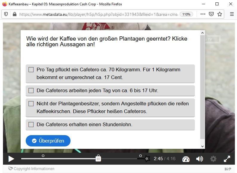 H5P interaktives Video Vorschaubild