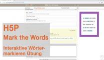 Tutorial für H5P: Mark the Words